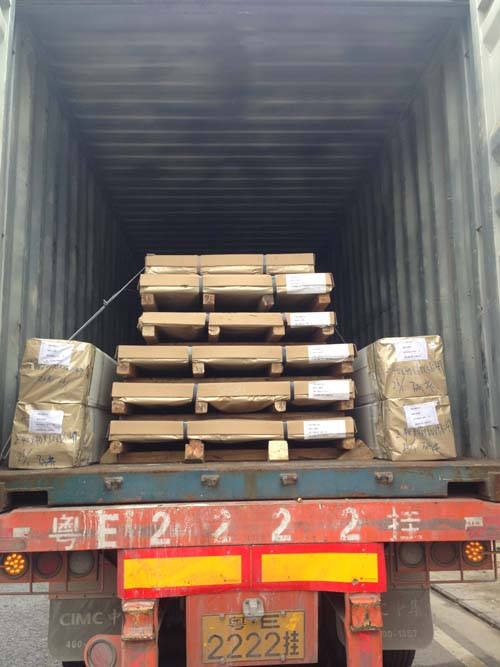 combined container, stainless steel tubes and sheets